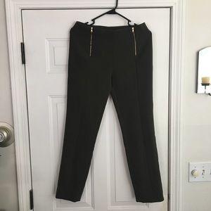 Rachel Roy Dark Olive Ankle Pants NWT 4